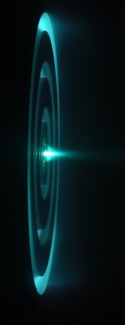 the x3 ion thruster during test